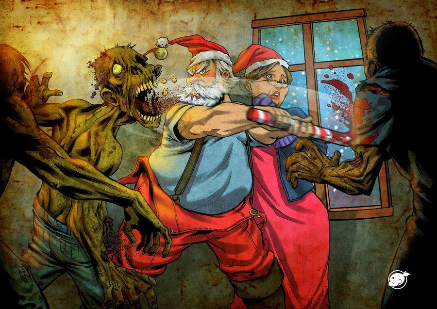 Christmas Zombie Santa.Zombie Christmas